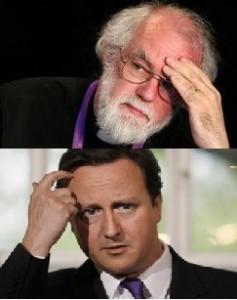 Archbishop of Canterbury and David Cameron