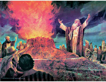 Elijah stood on top of Mount Carmel as the prophet of the Lord His appointed representative to call the people back to God