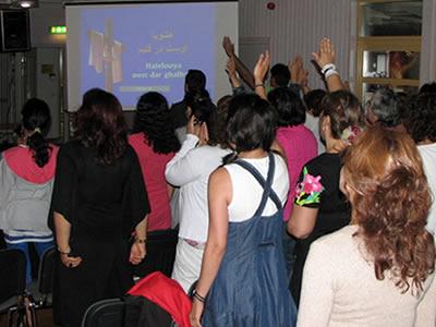 Iranian Christians Worshipping