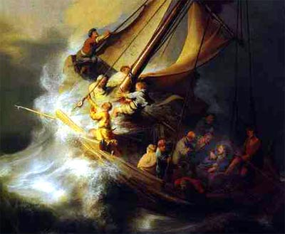 Jesus could sleep in the midst of the storm...
