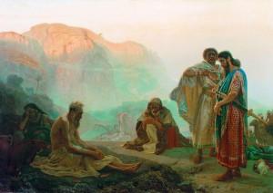 Job And His Friends by Ilya Yefimovich-Repin  1869