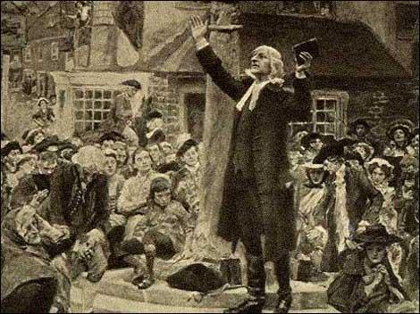 John Wesley, the Great revivalist, a fiery preacher