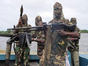 Militants of the islamist terrorist organisation Boko Haram in Nigeria