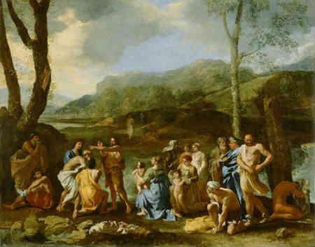 Nicolas Poussin Saint John Baptizing in the River Jordan