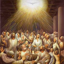 On the day of Pentecost, the disciples received Power from on High