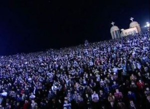 Over 70 000 christians attended the prayer meeting in cairo, the most significant christian gathering in a thousand years