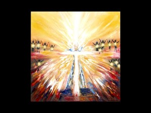 """Painting by Beth Larsen entitled """"Heavenly Worship"""""""