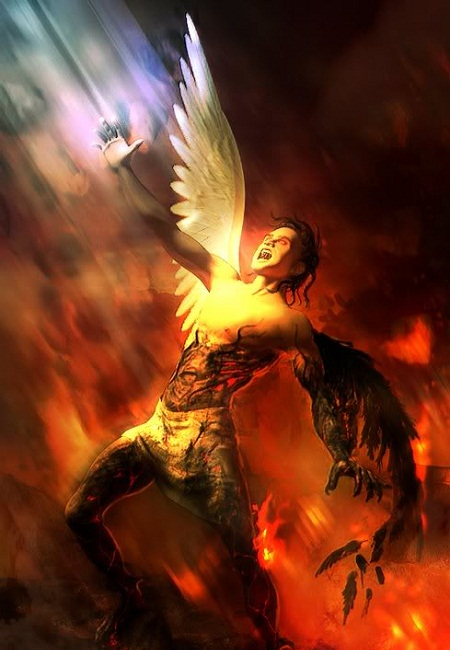 Satan cast out of heaven,he is a defeated foe.