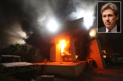 The Libyan embassy in flames, the US ambassador killed in reaction to a movie that 'misrepresented' Mohammed