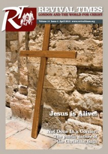 """The cover of our Church magazine, """"revival times"""""""