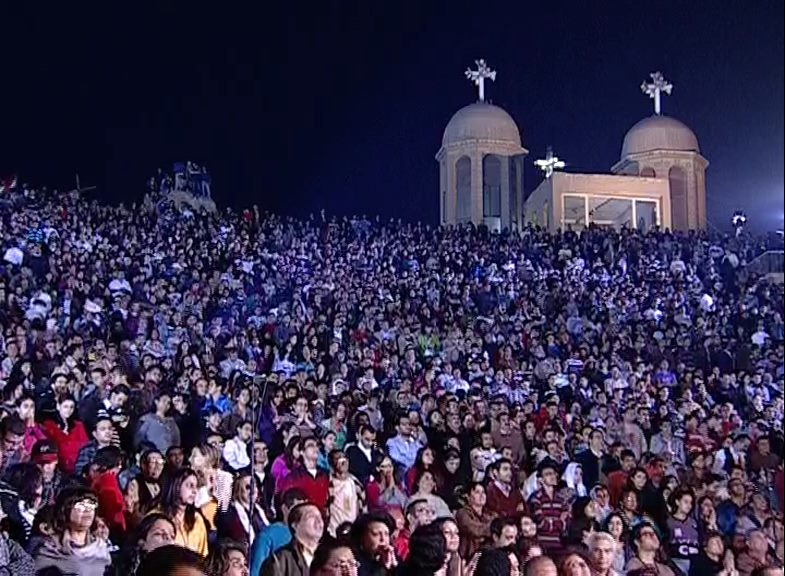 Thousands of Egyptian christians had gathered in November and we expect a large attendance this time also