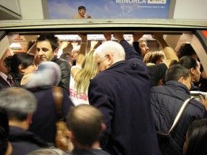 A crowded london underground carriage, how many lost souls need to hear the gospel of Jesus?