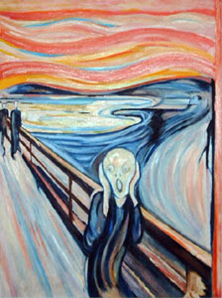 """""""the cry"""", by Munch"""